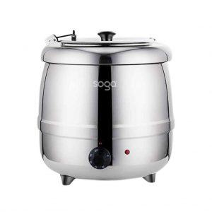 SOGA 10L Soup Kettle Commercial Soup Pot Electric Soup Maker Stainless Steel
