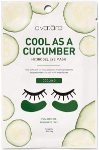 Avatara Cool as A Cucumber Eye Mask 15 PC Pack, Reduces Dull & Puffy Eyes, Calming, Cooling Under Eye