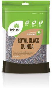 Lotus Organic Royal Black Quinoa Grain 500g
