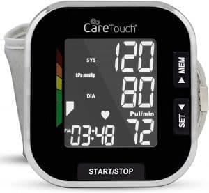 Care Touch Platinum Black Wrist Blood Pressure Monitor